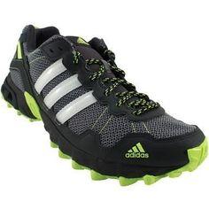Adidas Rockadia Trail M Trail Running Shoes - Mens Grey White Neon #trailrunningshoes #TrailRunningTips