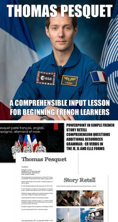 A CI lesson for beginning French learners. Focuses on the words/phrases: il quitte la terre, il fait, pendant le voyage and en espace. Read In French, How To Speak French, Learn French, French Teaching Resources, Teaching French, Teaching Ideas, Comprehensible Input, Student Info, French Classroom