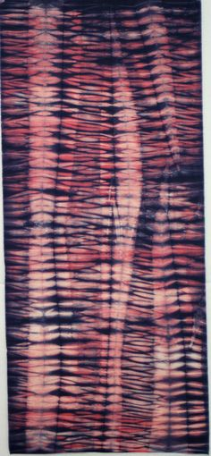 """This is a one-half yard piece of 42"""" wide hand dyed 100% mercerized cotton fabric with a thread count of 80 x 80 threads per inch. The first photo is"""
