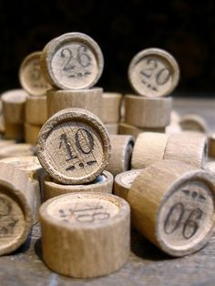 Vintage French Wooden Numbers
