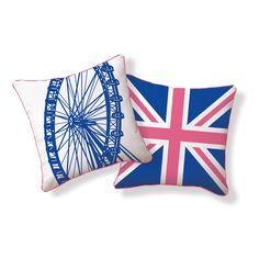 London Ferris Wheel Pillow  By Supon Phornirunlit