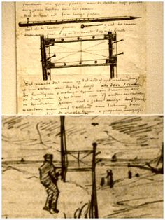 Van Gogh's letters 253 + 1 show the grid he used to capture perspective. See Van Gogh Museum, NL. myb