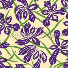 Floral pattern designed by Yenty Jap, available for download on patterndesigns.com