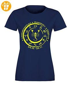 Sternzeichen Skorpion - Astrologie - Damen Rundhals T-Shirt (*Partner-Link)