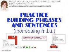 Increasing the length of a students typical response and increasing his phrase and sentence complexity are often skills that SLPs work on with a wide variety of students.Most of the students I see use single word responses, whether they speak or use AAC.When I first started working as a SLP in the 1970s I had a set of pictures that were very much like coloring book pages, each of which depicted a single action being performed by a person.The set was meant to be used over and over on a…