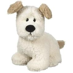 """Ralph the Dog 9"""" White Plush Stuffed Animal by Ganz *** Learn more by visiting the image link. (This is an affiliate link) #StuffedAnimalsPlushToys"""