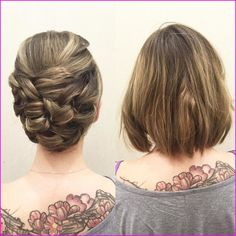 60 Creative Short Hair Updos, Have you ever struggled to learn some updos for short hair? With so many gorgeous updo ideas available online, the strong majority are for long hair. Short Sassy Haircuts, Prom Hairstyles For Short Hair, Short Hair Updo, Trending Hairstyles, Down Hairstyles, Short Hair Cuts, Curly Hair Styles, Pixie Cuts, Short Pixie