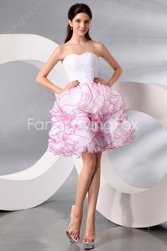 Adorable Shallow Sweetheart Puffy Mini Length Sweet 16 Dresses With Ruffled