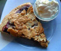 Gluten-free almond tarte with cherries and vanilla whipped-cream (Kirsch-Mandeltarte mit Sahne)