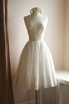 50s wedding dress, available now in our etsy shop.