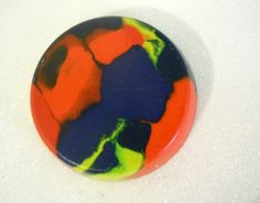 Orange and Blue Crayon, Recycled, Upcycled. $1.50, via Etsy.