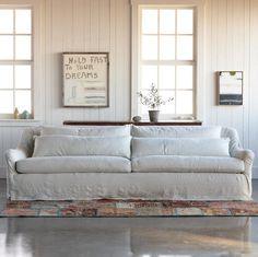 LOVE a linen sofa!!!