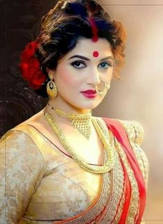 A beautiful Indian bride Beautiful Indian Brides, Most Beautiful Indian Actress, Beautiful Actresses, Indian Beauty Saree, Indian Sarees, Beauty Full Girl, Beauty Women, Bengali Bride, Bengali Wedding