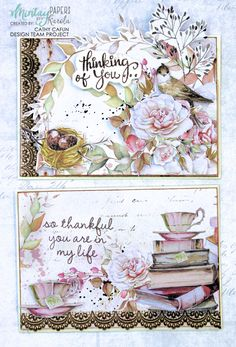 November 2018 Class kit 2 x cards created with Mintay Papers Dear Diary Collection. Bird Cards, Paper Tags, Dear Diary, Paper Design, Decorative Boxes, Card Making, Paper Crafts, Project Life, Scrapbooking Ideas