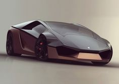 Lamborghini Ganador concept car, conceived by industrial design student, Mohammad Hossein Amini Yekta, in collaboration with the Italian manufacturer