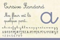 Répertoire de polices cursives gratuites et payantes...