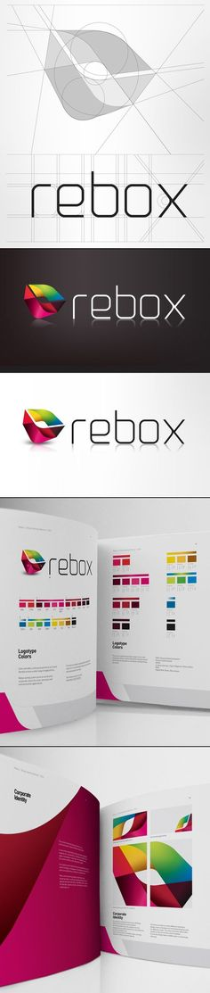 Rebox Logo Design and Brand Identity by PAOLA FLORES via Behance