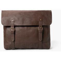 Leather Messenger Bag ($180) ❤ liked on Polyvore featuring bags, messenger bags, messenger bag, genuine leather bag, mango bags, leather messenger bag and brown leather messenger bag