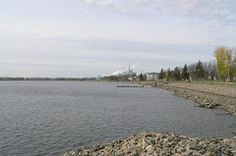 Fort Frances waterfront.  Travelling luck for Fort Frances.  Border own with International Falls, Minnesota.