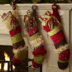 1000+ images about Christmas stockings on Pinterest | Knitted ...