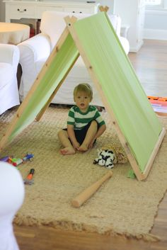 DIY A-Frame Tent For Kids