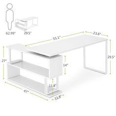 modern white office desks. Amazon.com : Tribesigns Modern L-Shaped Desk, 55\ White Office Desks