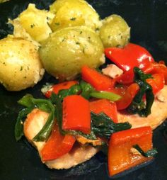 Tonight for Supper: March 17-Pork Chops w/Peppers and Onions & Buttery Baby Potatoes with Parsley