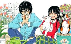 Sangatsu no Lion (Rei Kiriyama, Akari Kawamoto, Hinata Kawamoto) Art Manga, Manga Artist, Manga Anime, Anime Art, Pretty Art, Cute Art, Naruto Shippuden, Boruto, Lion Hd Wallpaper