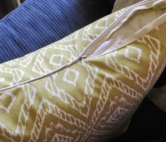 The Project Lady: Throw Pillow Cover Sewing Tutorial (A How-to for Invisible Zippers & Piping)!