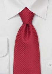 Krawatte XXL aus Microfaser mit roten Streifen günstig kaufen