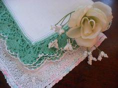 #vintage #hankies #lace #cotton