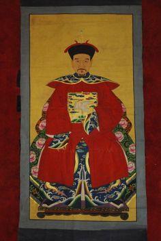 Grand Couple d'ancêtres Chinois Empereur et Imperatrice
