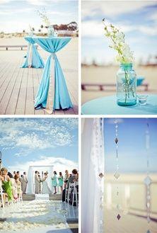 Light Blue Beach Wedding