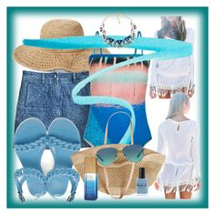"""""""Sunset At The Beach Swimsuit"""" by onesweetthing on Polyvore featuring Chanel, Nordstrom, Paul Smith, By Terry, Givenchy, Flora Bella, Tiffany & Co., Lauren B. Beauty and Alterna"""