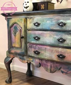 New bohemian furniture diy painted dressers colour ideas