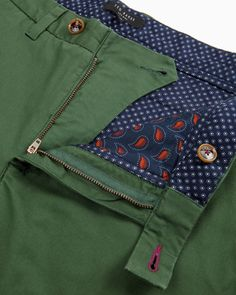 Classic fit chinos - Mid Green | Outlet | Ted Baker UK