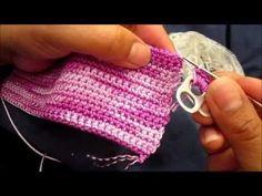 Como hacer una bolsa con anillas de lata: Bolsa de Corazones Parte 1  in spanish but easy to understand,bag made with poptops