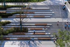 Landscape Design of Xi'an LEADERS Primary School, China by Instinct Fabrication - 谷德设计网 Landscape Stairs, Landscape Architecture Design, Urban Landscape, Stair Steps, Outdoor School, Outdoor Landscaping, Urban Design, Building, Plaza Design