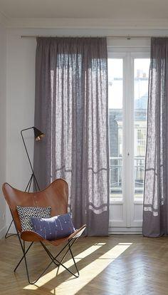 Attraktiv Einzel Vorhang Aus Leinen Mit Modernem Design