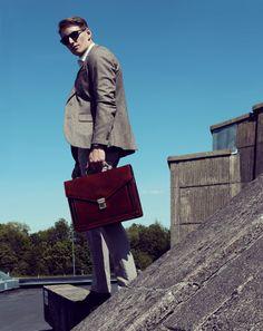 Brown Leather Briefcase,mens leather briefcase, Laptop Bag,Handbag,Satchel,Shoulder Bag,mens briefcase,leather briefcase-The Magus