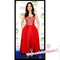 ODEYA RUSH red lace prom dress Teen Choice Awards 2014 $139 each at Celebsbuy.cn