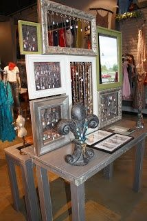 Get inspired and design your next vendor booth in a way that excites and engages with customers. Check out Pin It Expo's roundup of ten jewelry display ideas sure to inspire sales. Jewellery Storage, Jewellery Display, Jewelry Organization, Jewelry Dish, Wire Jewelry, Boutique Jewelry Display, Mens Jewellery, Handmade Jewelry, Hair Jewellery