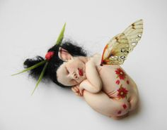 A Cherry Blossom Japanese inspired fairy by jackymullen on Etsy, $80.00