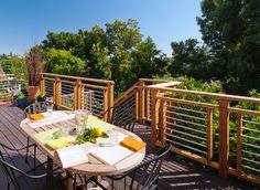Deck railing - low cost, low maintenance