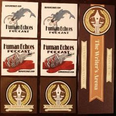 FREE Human Echoes and The Writer's Arena Stickers on http://www.icravefreebies.com/