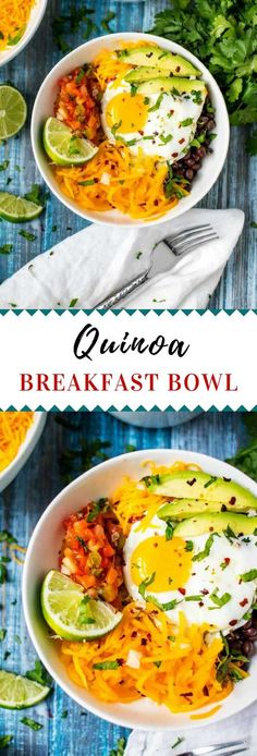 This Quinoa Breakfast Bowl with Egg and Butternut Squash is a great healthy way to start your day.    #VeggieSwapIns #IC  #quinoa #veggies #breakfastrecipes  via @wendypolisi