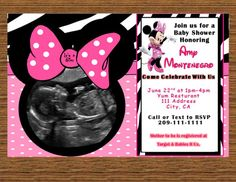 Minnie Mouse Baby Shower Invite-DIGITAL FILE