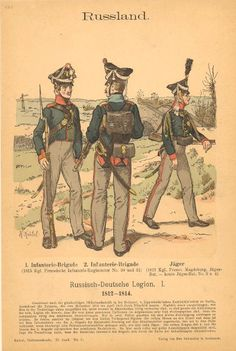 Knotel 881: Russo-German Legion, 1814 (1). Ist & 2nd infantry Brigades &, Jager Battalion