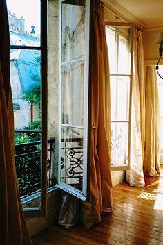 tall curtain ideas {french christmas}