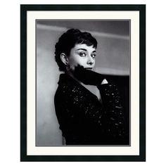 Hepburn Framed Print - ah, timeless beauty.